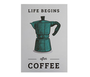 Placa de Madeira Estampada Life Begins After Coffe | WestwingNow