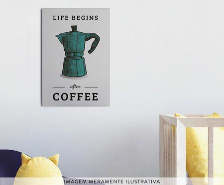 Placa de Madeira Estampada Life Begins After Coffe | WestwingNow