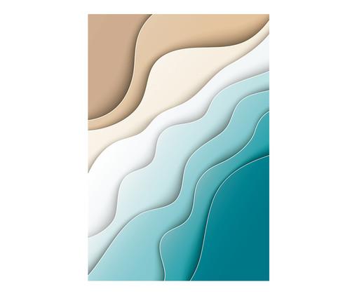 Placa de Madeira Estampada Água e Areia, Colorido | WestwingNow