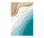 Placa de Madeira Estampada Água e Areia | WestwingNow