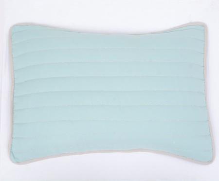 Jogo de Cobre-Leito Dupla Face Pesponto Equilibrado - Azul | WestwingNow