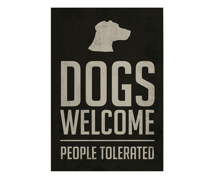 Placa de Madeira Estampada Dogs Welcome | WestwingNow