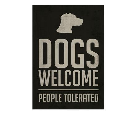 Placa de Madeira Estampada Dogs Welcome | WestwingNow