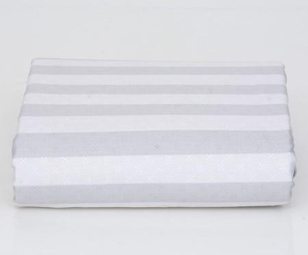 Lençol Inferior com Elástico Ramalhete Elegante Cinza - 200 Fios | WestwingNow