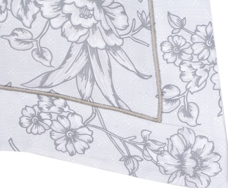 Fronha Ramalhete Elegante Cinza - 200 Fios | WestwingNow