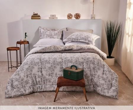 Edredom Ramalhete Elegante Cinza - 200 Fios | WestwingNow
