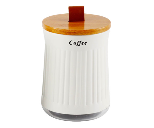 Porta Condimentos Cristal Coffee, Branco | WestwingNow