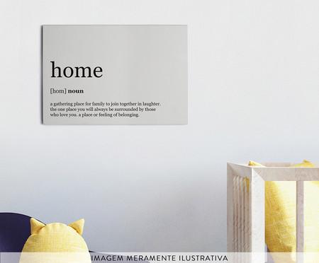 Placa de Madeira Estampada Home | WestwingNow