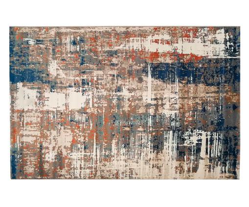 Tapete Abstrato Sena Muca, Bege, Marrom e Azul | WestwingNow