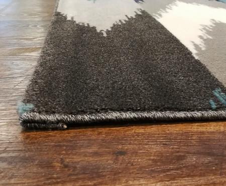 Tapete Abstrato Sena Ray - Azul, Bege e Cinza | WestwingNow