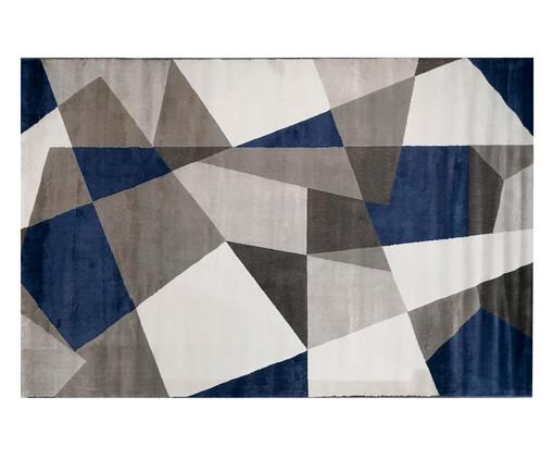 Tapete Geométrico Sena Gali - Azul, Azul, Bege e Cinza   WestwingNow