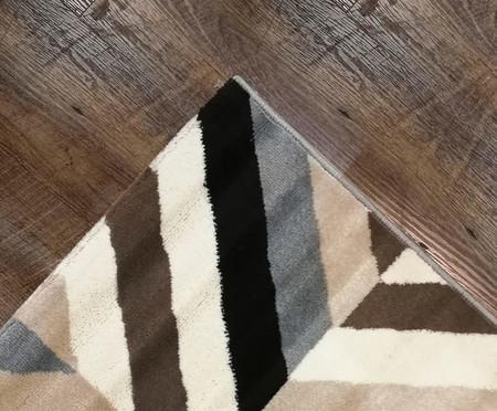 Tapete Pequeno Geométrico Sena Noah - Cinza, Bege e Marrom | WestwingNow