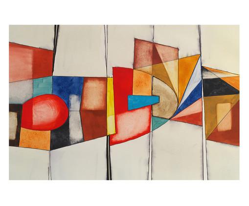 Placa de Madeira Estampada Tersio, Colorido | WestwingNow