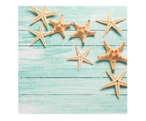 Placa de Madeira Estampada Estrelas do Mar, Colorido | WestwingNow