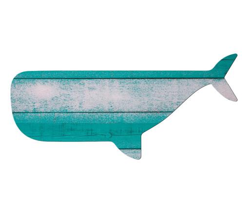 Placa de Madeira Estampada A Baleia, Colorido | WestwingNow
