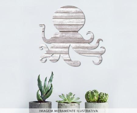 Placa de Madeira Estampada O Polvo | WestwingNow