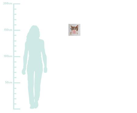 Placa de Madeira Estampada Gato Mascando Chiclete | WestwingNow