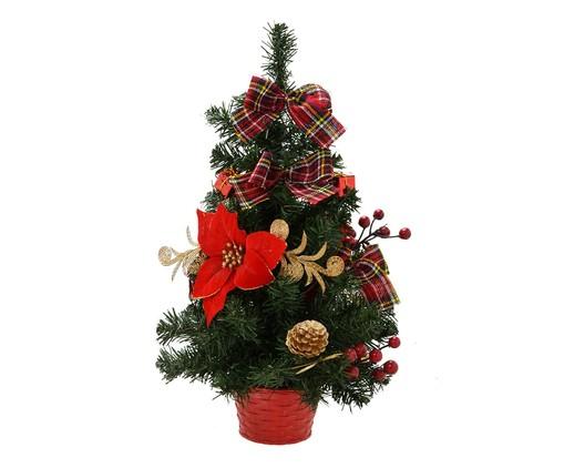 Mini Árvore de Natal Verde - 30X51X30cm, Verde,Vermelho,Dourado | WestwingNow