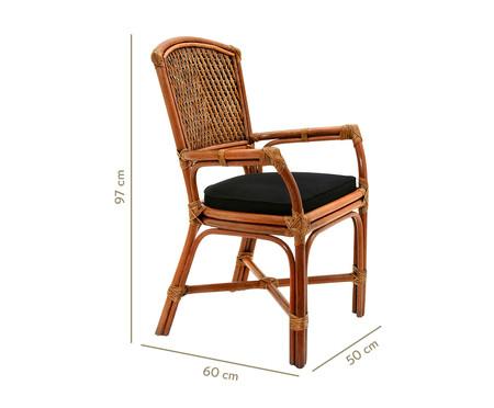 Cadeira de Fibra Natural Palazan - Natural e Preta | WestwingNow