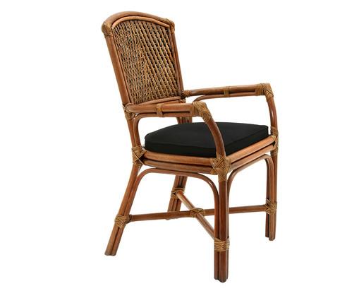 Cadeira de Fibra Natural Palazan - Natural e Preta, Preto, Natural | WestwingNow