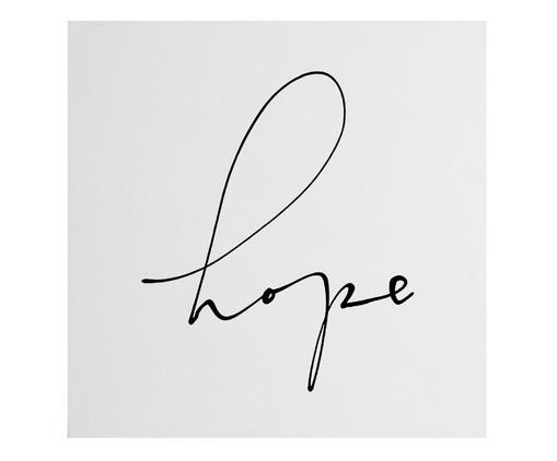 Placa de Madeira Estampada Hope, Preto, Branco | WestwingNow