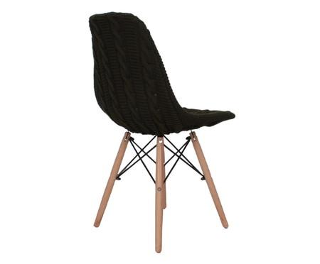 Capa para Cadeira Eames em Tricot Trançada Eiffel Charles - Verde Militar | WestwingNow