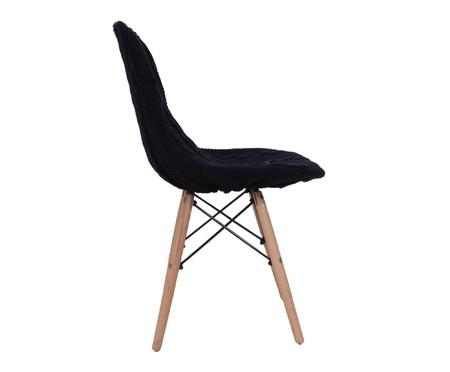 Capa para Cadeira Eames em Tricot Trançada Eiffel Charles - Azul Marinho | WestwingNow