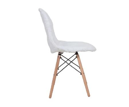 Capa para Cadeira Eames em Pelucia Eiffel Charles - Branco | WestwingNow