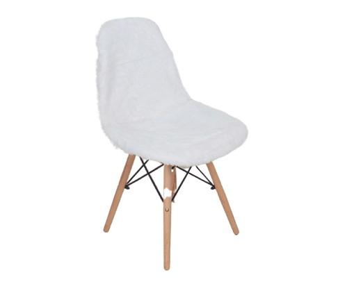 Capa para Cadeira Eames em Pelucia Eiffel Charles - Branco, Branco | WestwingNow