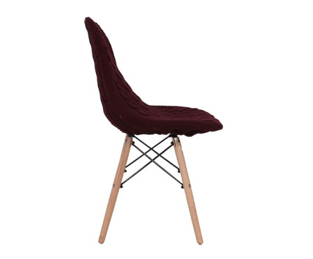 Capa para Cadeira Eames em Tricot Trançada Eiffel Charles - Vinho | WestwingNow