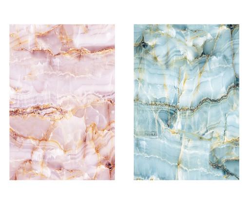 Jogo de Placas de Madeira Estampadas Hirana, Colorido | WestwingNow