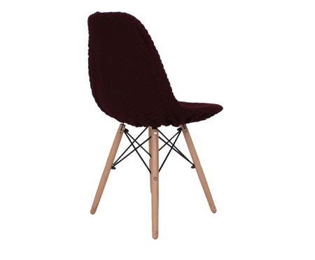 Capa para Cadeira Eames em Tricot Eiffel Charles - Vinho | WestwingNow