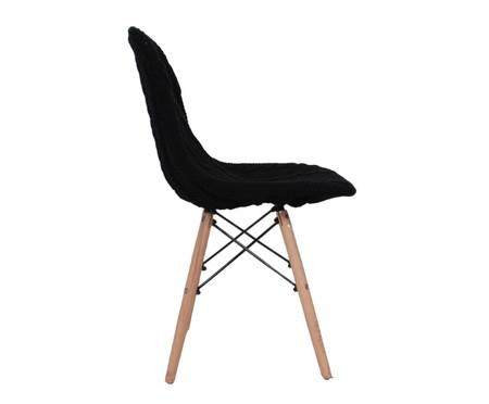 Capa para Cadeira Eames em Tricot Trançada Eiffel Charles - Preto | WestwingNow