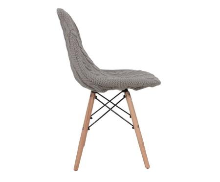 Capa para Cadeira Eames em Tricot Trançada Eiffel Charles - Cinza | WestwingNow