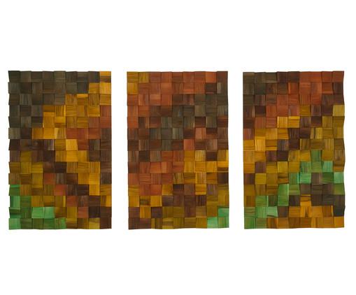 Jogo de Quadros de Madeira 3D - Aruana, colorido | WestwingNow