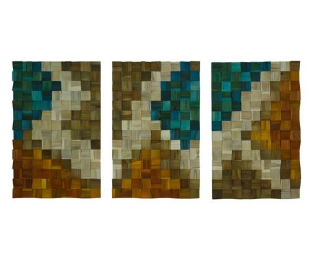 Jogo de Quadros de Madeira 3D - Iparian | WestwingNow