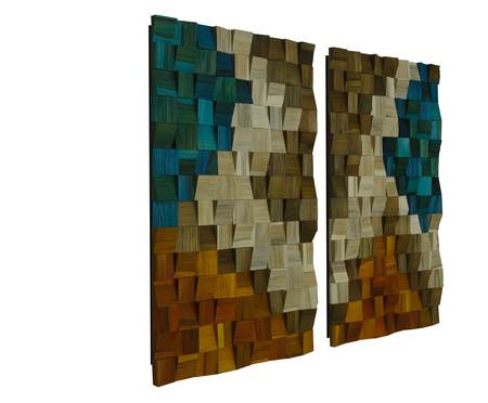 Jogo de Quadros de Madeira 3D - Atlantis | WestwingNow