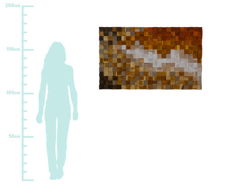 Quadro de Madeira 3D Zenith Colorido - 115x70cm | WestwingNow