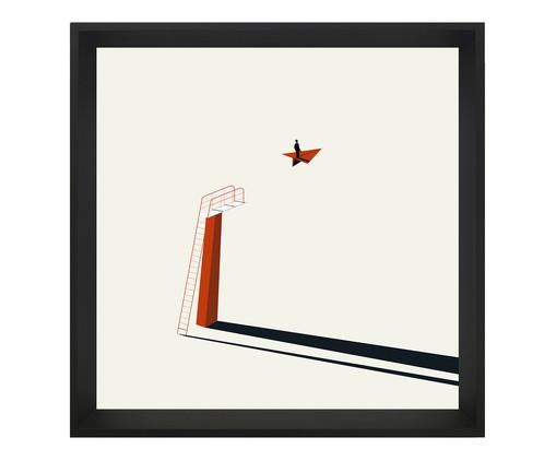 Quadro com Vidro Ginger - 70x70, colorido   WestwingNow