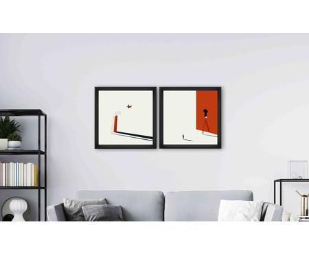Quadro com Vidro Emilia - 70x70 | WestwingNow
