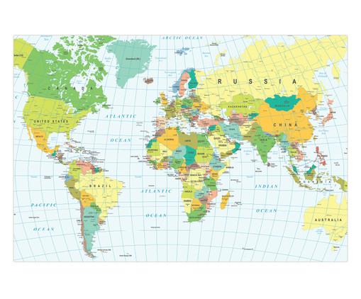 Placa de Madeira Estampada Mundi, Colorido | WestwingNow