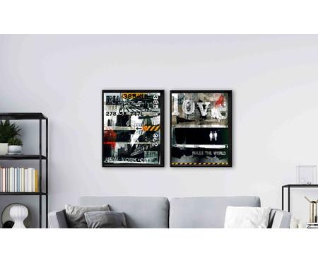 Quadro com Vidro Lakisha - 90x70cm | WestwingNow