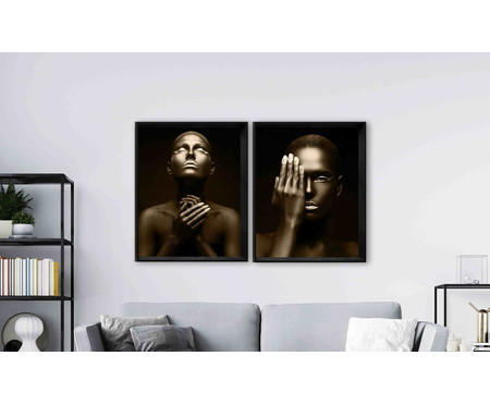 Quadro com Vidro Mulher - 100x80 | WestwingNow