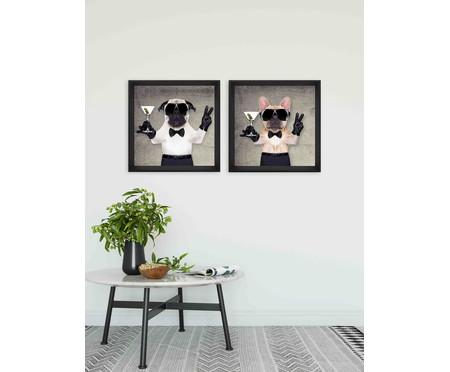 Quadro com Vidro Bulldog - 50x50 | WestwingNow