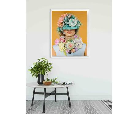 Quadro com Vidro Menina com Flores - 100x80   WestwingNow
