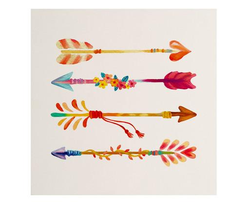 Placa de Madeira Estampada Flechas, Colorido | WestwingNow