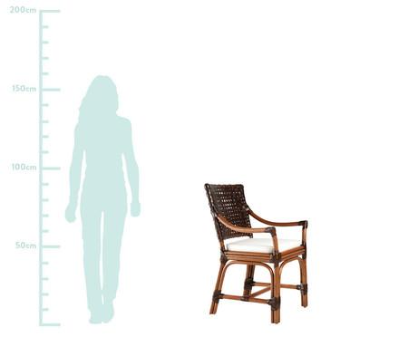 Cadeira com Braços Izmir - Nogueira | WestwingNow