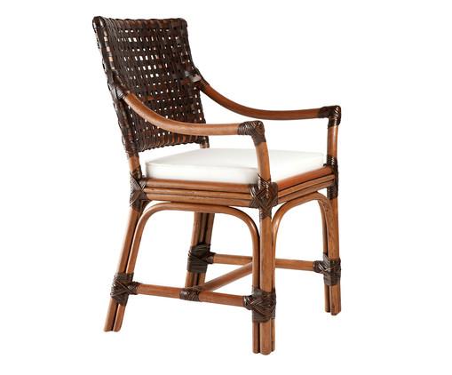 Cadeira com Braços Izmir - Nogueira, Branco, Natural   WestwingNow