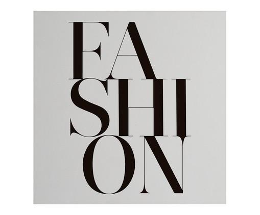 Placa de Madeira Estampada Fashion, Preto, Branco | WestwingNow