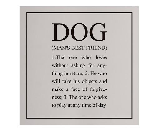 Placa de Madeira Estampada Dog, Preto, Branco | WestwingNow